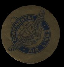 Airline luggage labels   Continental airline #348